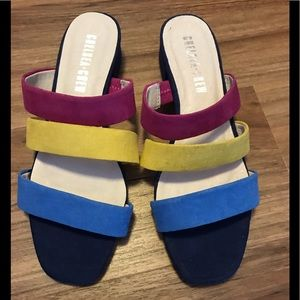 NWOT Chelsea Crew strappy mule sandals